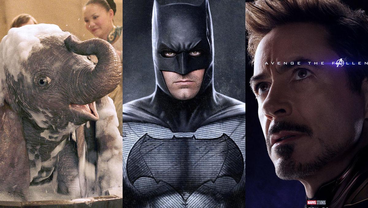 Dumbo, Batman, Avengers: Endgame