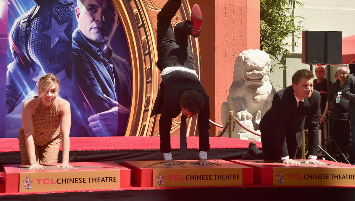 Mark Ruffalo's handstand cements Avengers' status as Chinese Theatre icons
