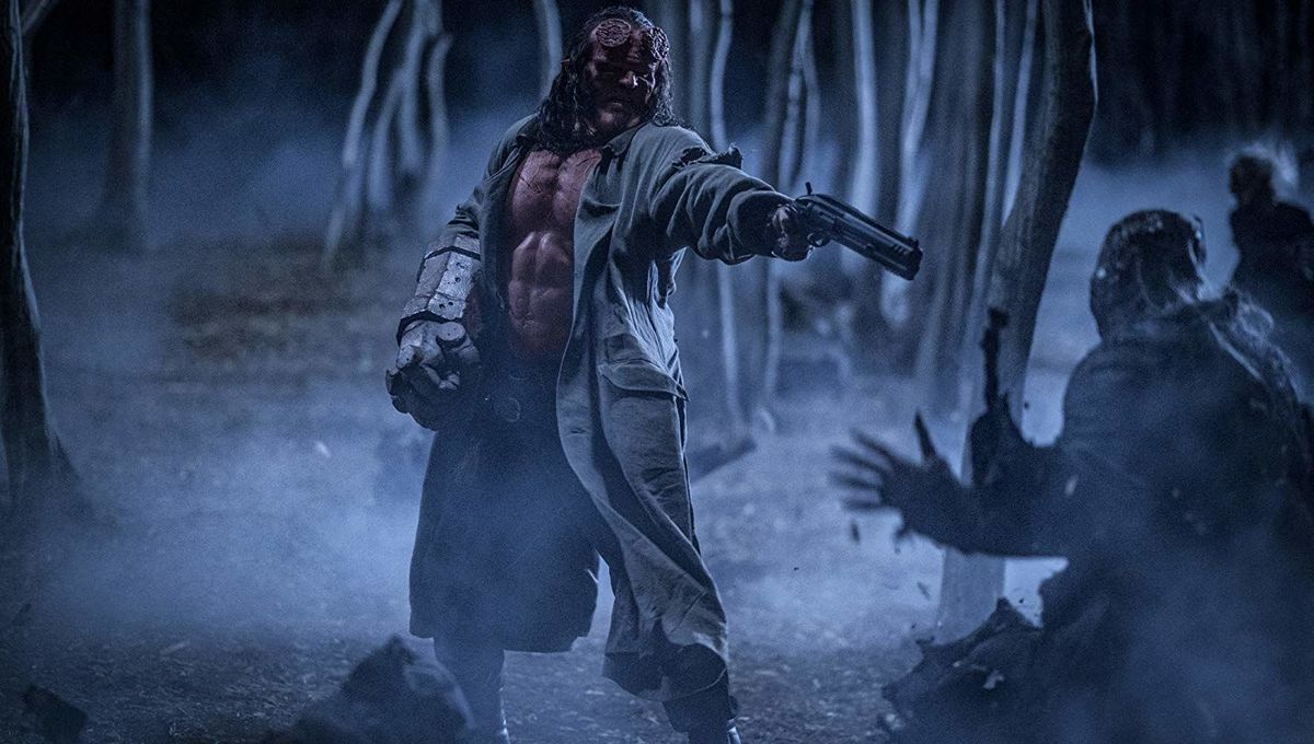 David Harbour in Hellboy
