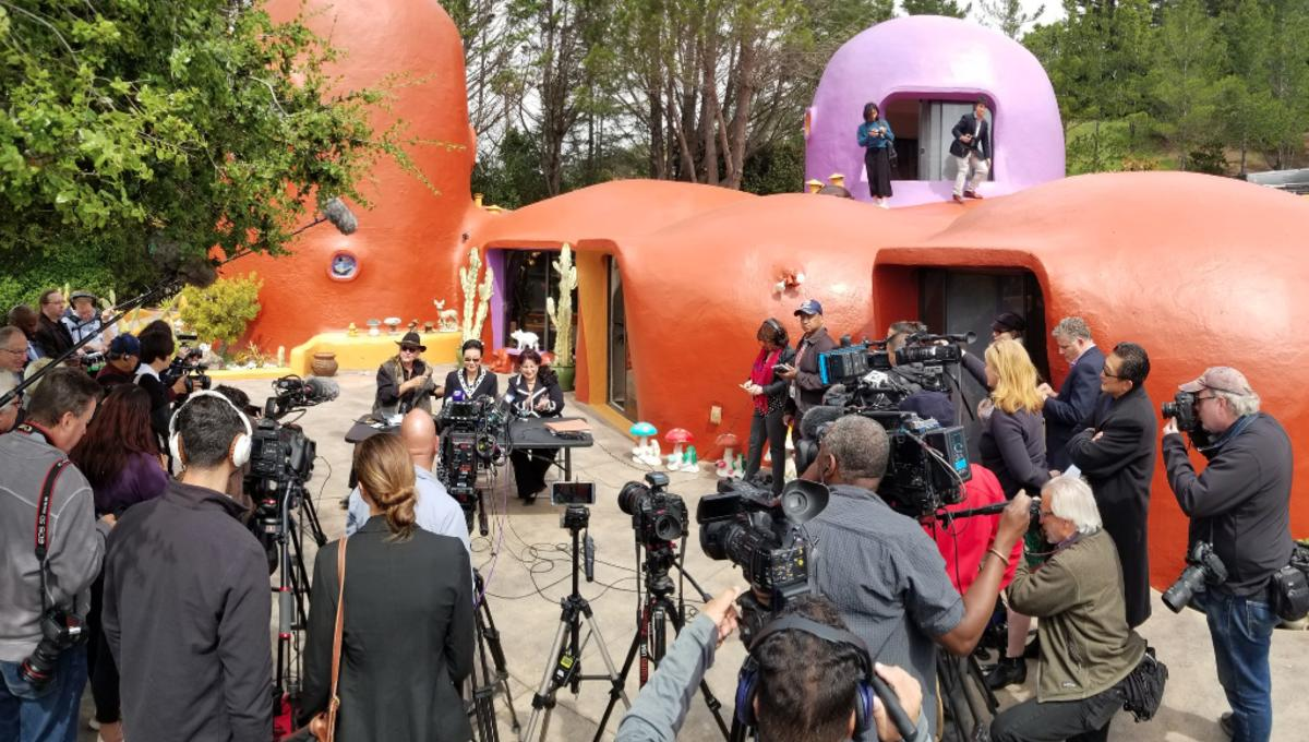Flintstones House press conference
