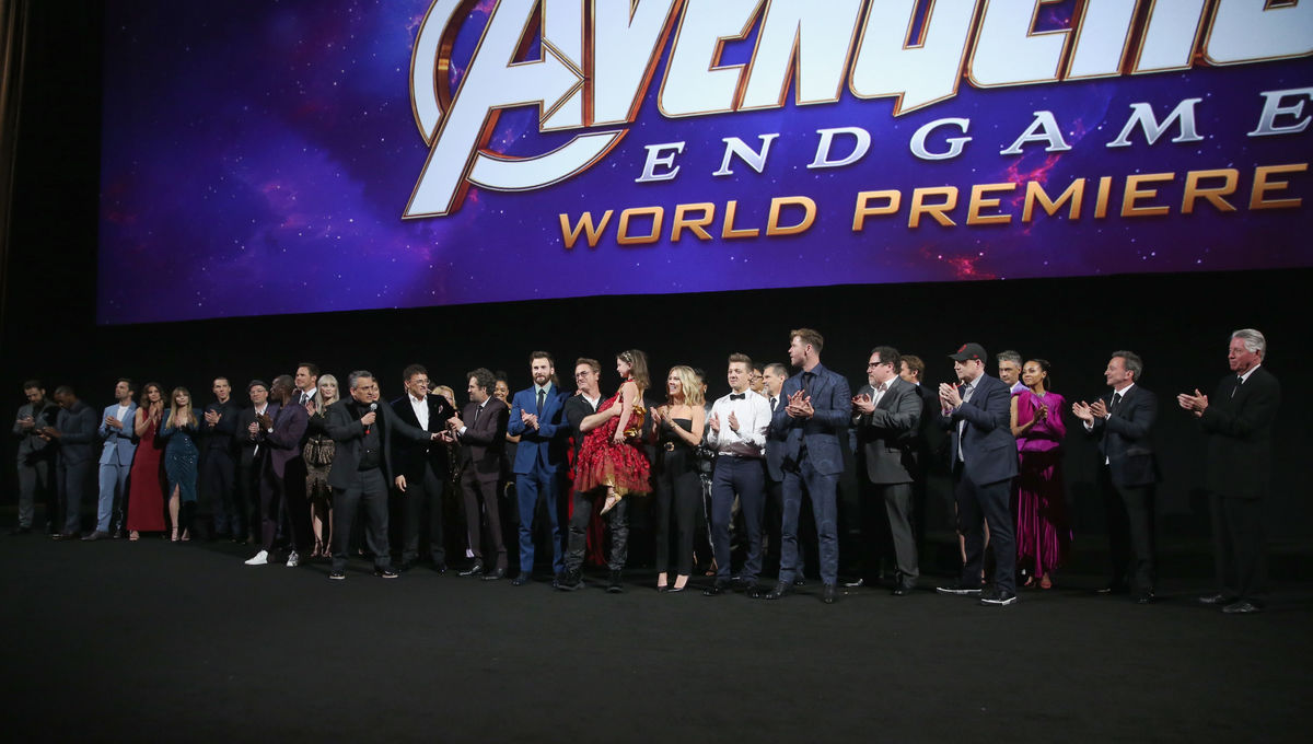 From the carpet to the jewels, the Thanos influence is strong at the Avengers: Endgame world premiere
