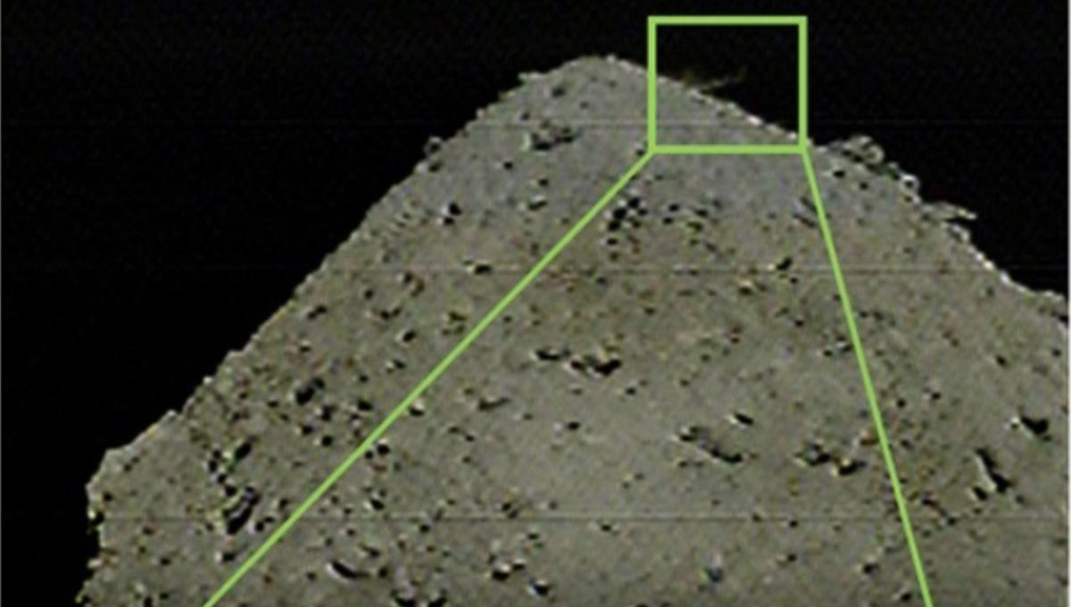 JAXA's Hayabusa2 spacecraft bombing a crater into the asteroid Ryugu