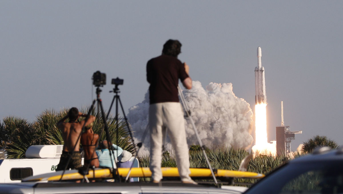 The SpaceX Falcon Heavy launches in Florida on April 11 2019
