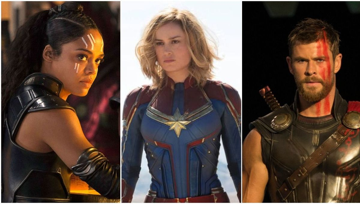 Captain Marvel, Valkyrie, and Thor are the throuple we need