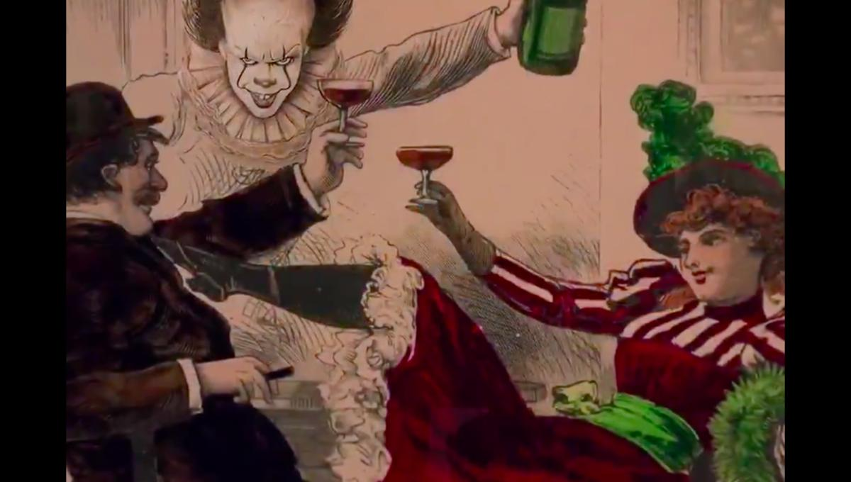 Pennywise floats into Cheers opening theme in viral mashup video