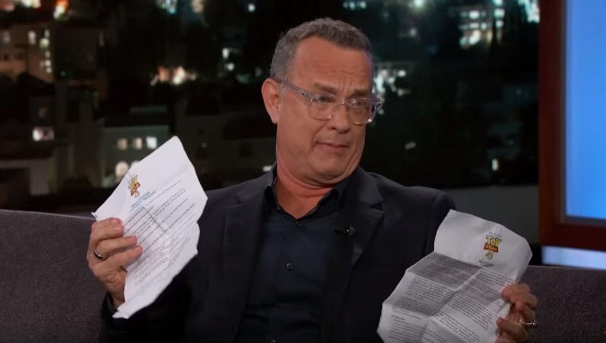 Tom Hanks drives Disney PR crazy, pulls out Toy Story 4 talking points on Jimmy Kimmel
