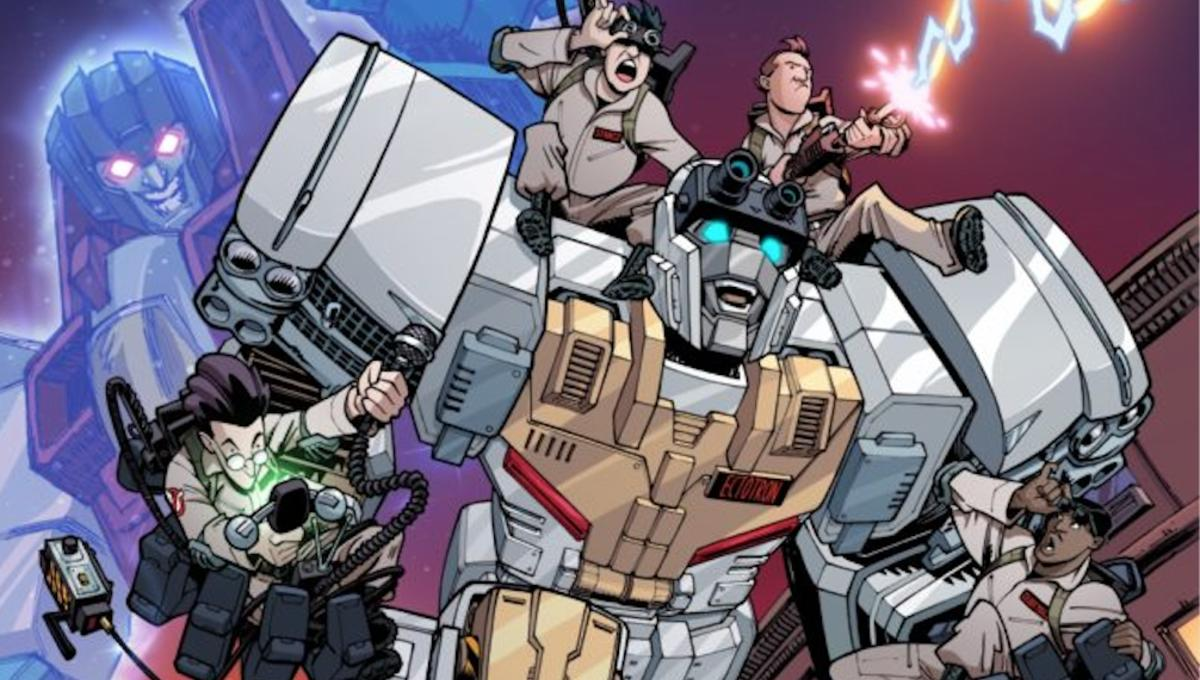 Here's a sneak peek at IDW's amazing mashup series, Transformers