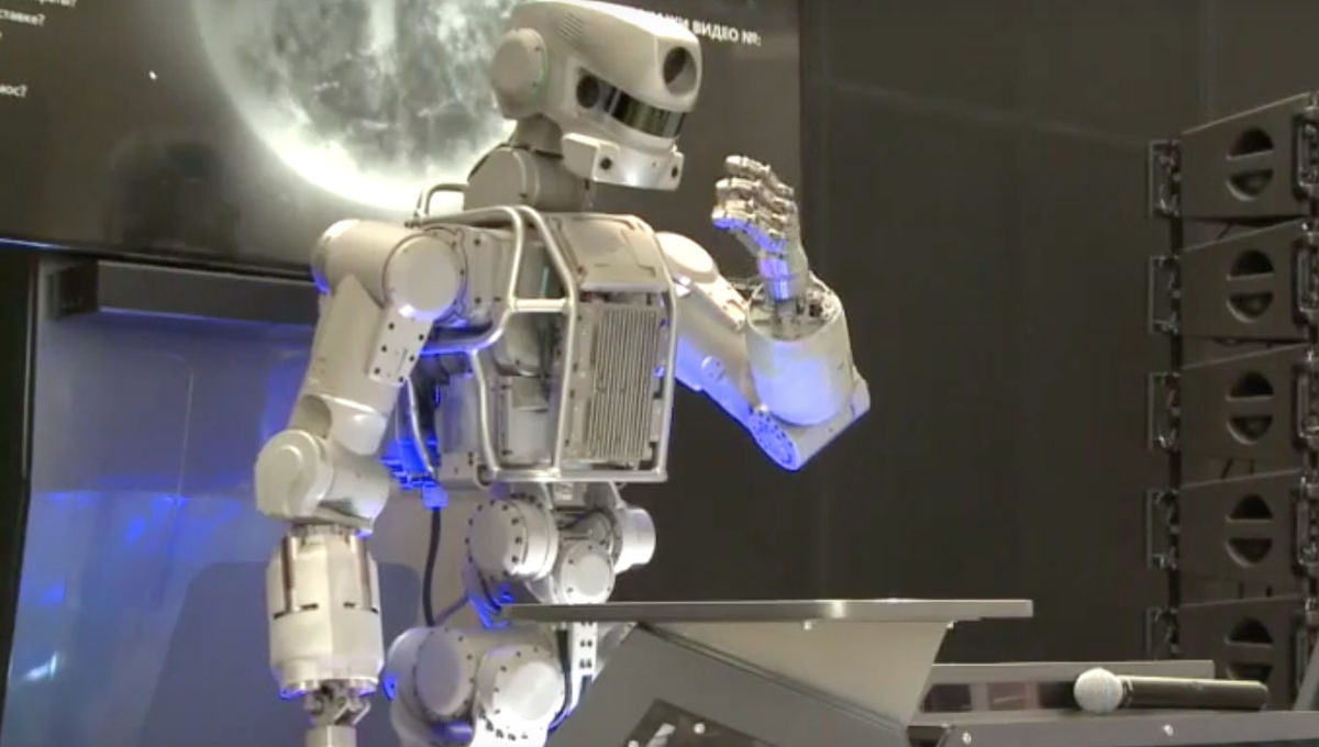 Russia's humanoid robot looks like Robocop, has AI brains and is
