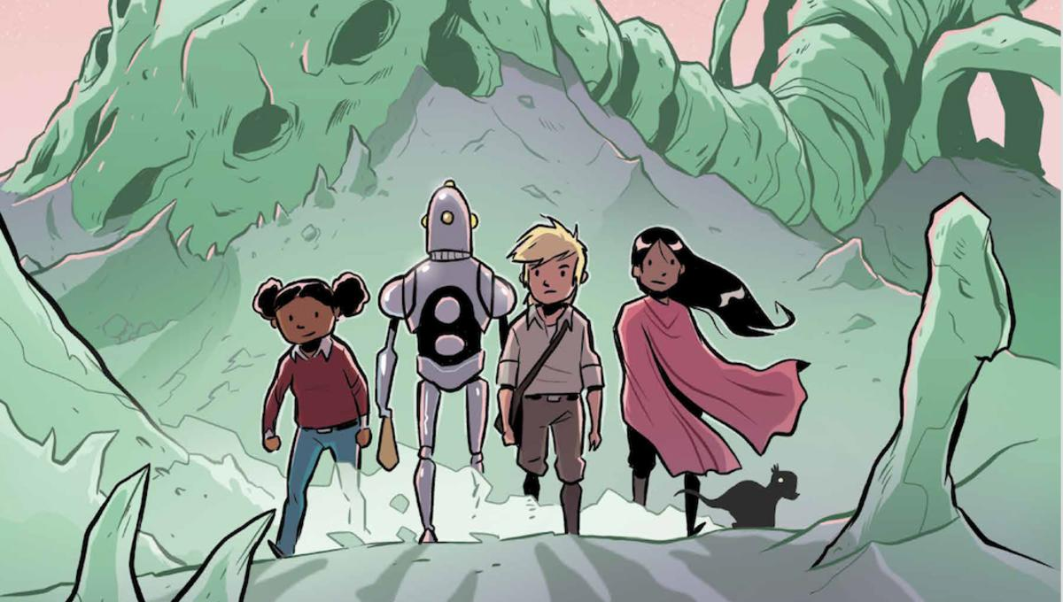 Salute International Dino Month with 1First Comics' new graphic novel, Alien Bones