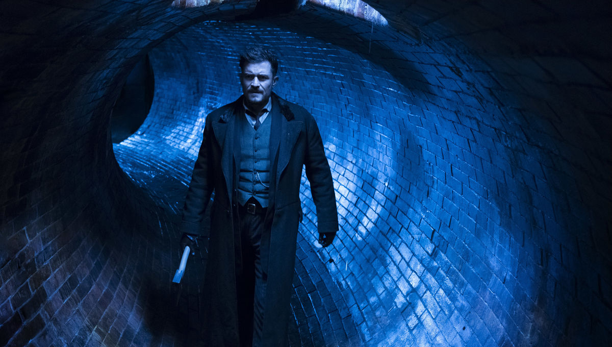 Making Carnival Row look real meant Orlando Bloom had to trudge through real sewers