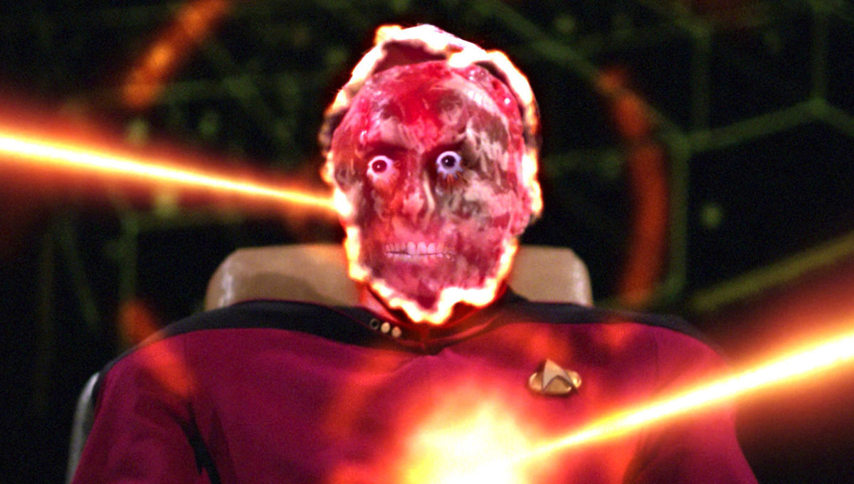 WTF Moments: Riker and Picard take on a chestburster in Star Trek: The Next Generation