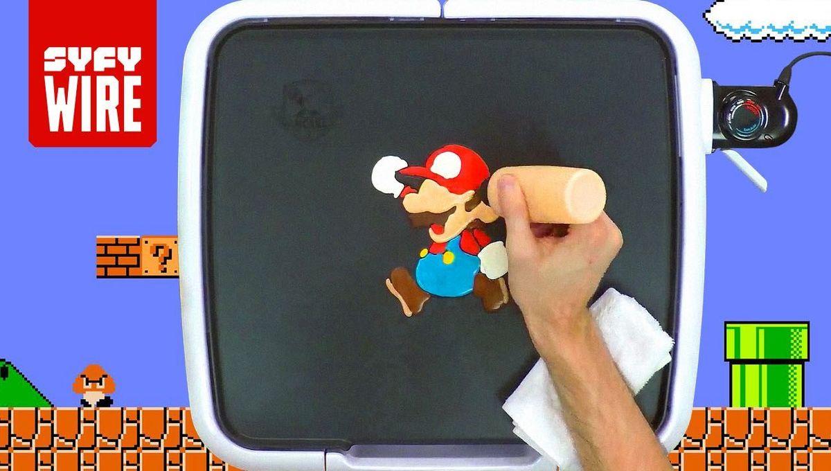 Fancakes! Super Mario pancake art in motion