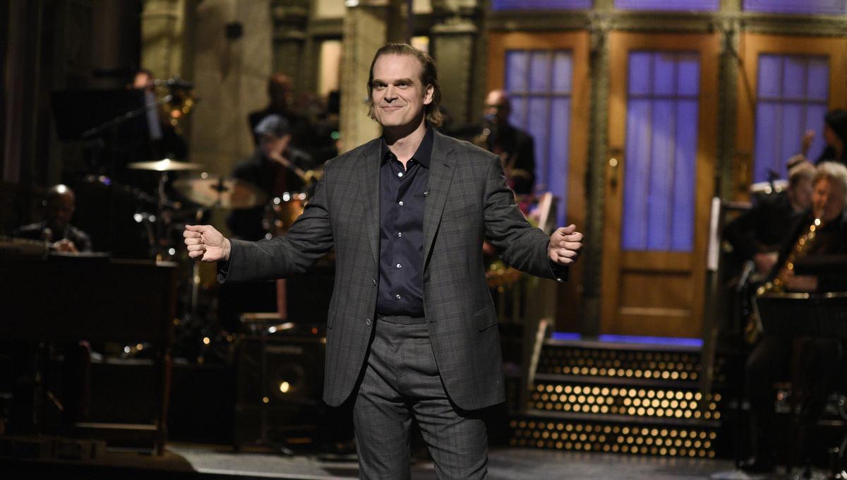 David Harbour parodies Joker and Stranger Things during first SNL hosting gig