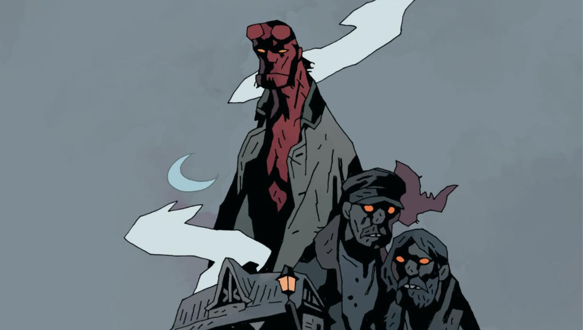 Big Red endures a long night at Goloski Station in Dark Horse's Hellboy Halloween one-shot
