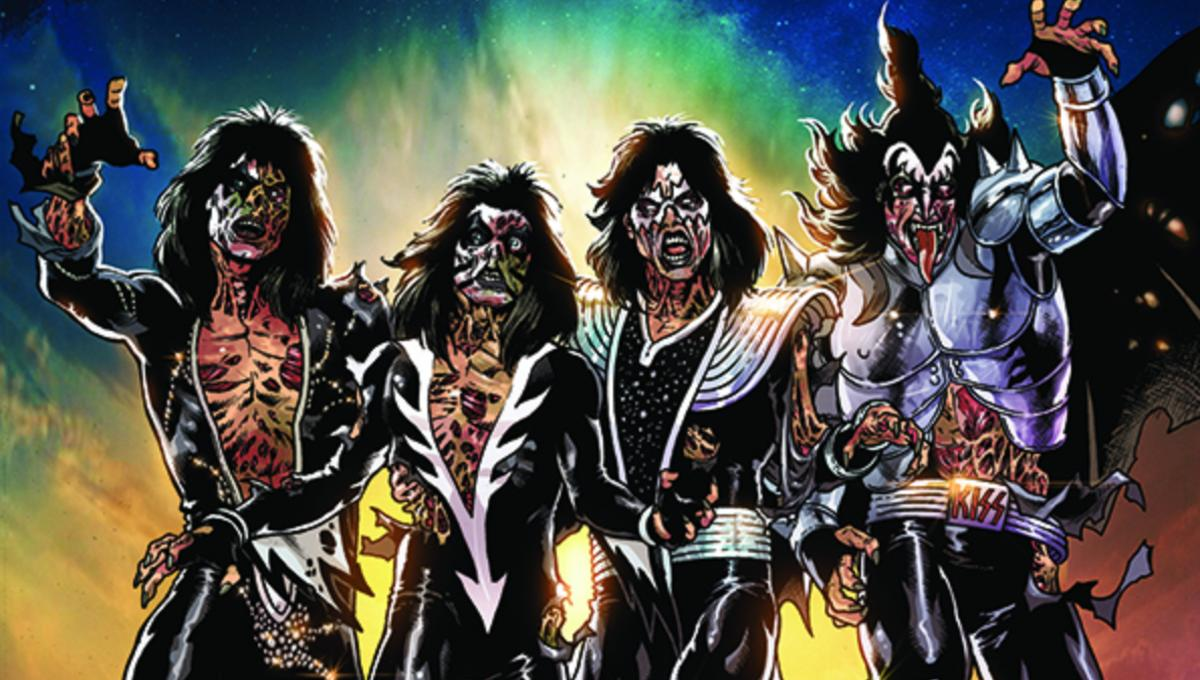 Preview: Immortal glam rockers take on the undead in Dynamite's new KISS Zombies #1