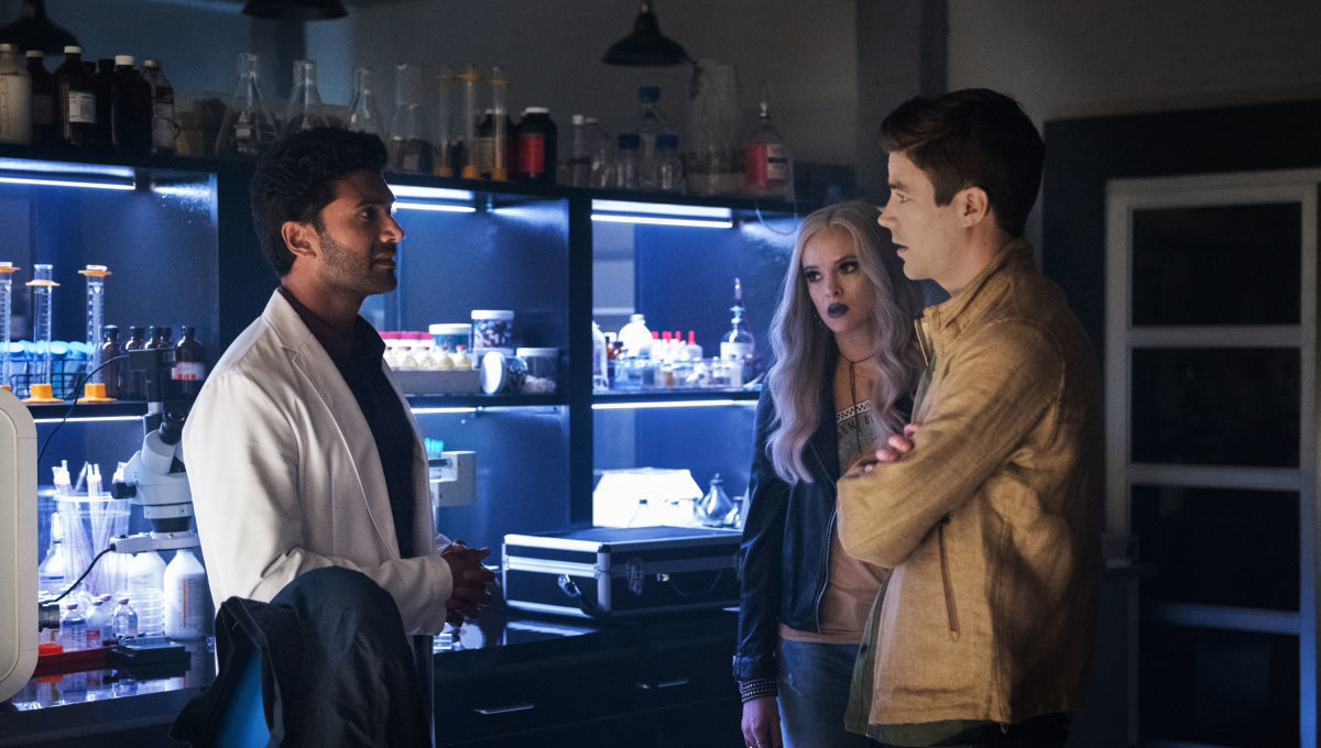 Team Flash takes on a dark matter zombie, and Indiana Wells arrives in the latest Flash