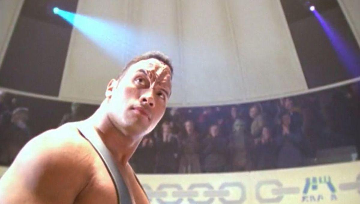 Chosen One of the Day: Dwayne 'The Rock' Johnson as the Pendari champion on Star Trek: Voyager
