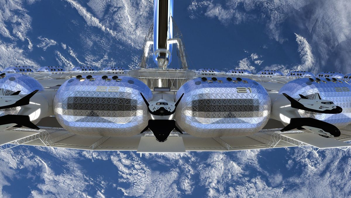 You could be booking an Earth-view room at the Von Braun Space Station by 2025