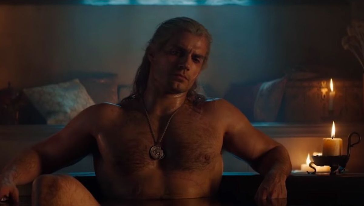 The Witcher creator breaks down Netflix trailer and Henry Cavill's steamy bath scene