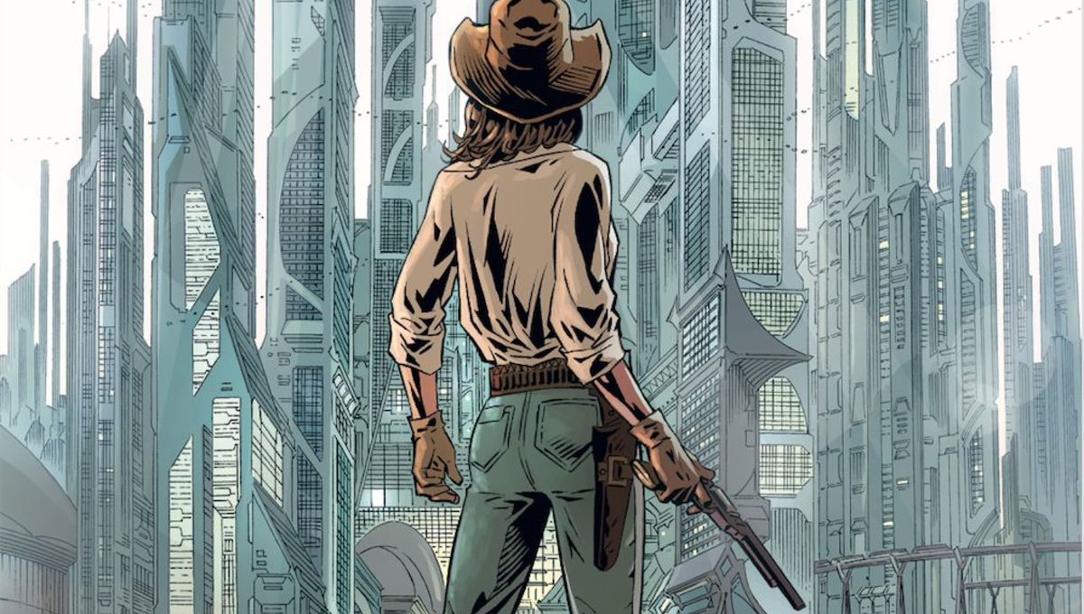 A dark tomorrow arrives in AfterShock's new sci-fi western, Join The Future #1