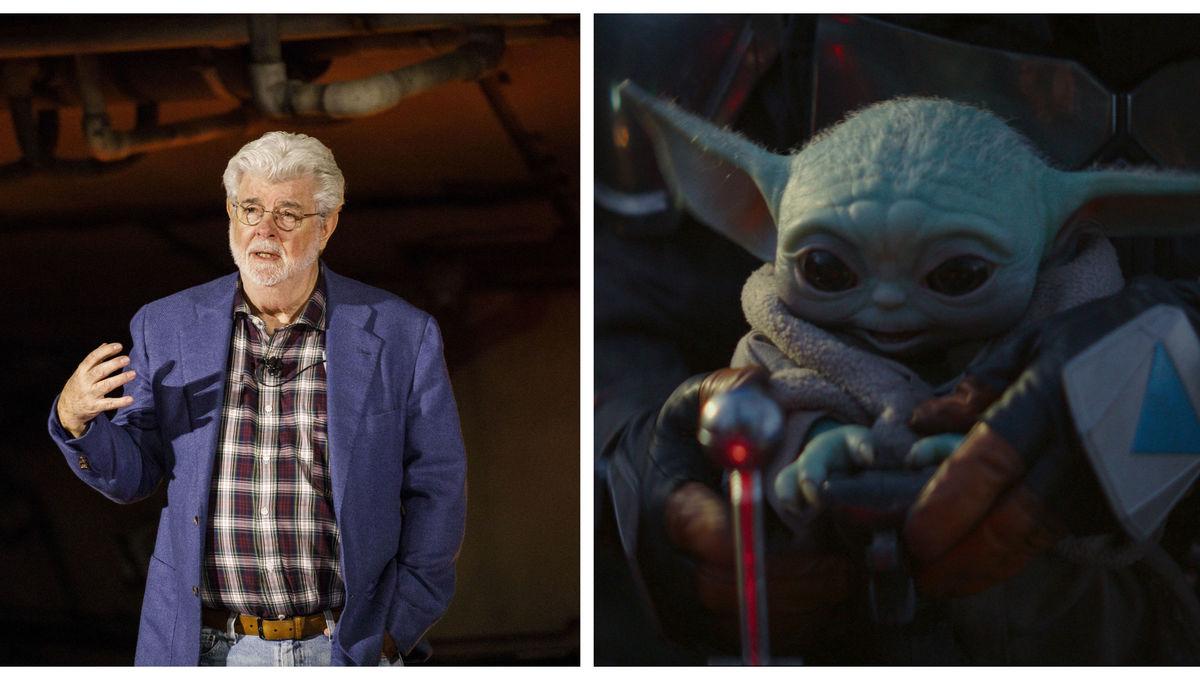 The Mandalorian: George Lucas meets Baby Yoda in adorable photo from creator Jon Favreau