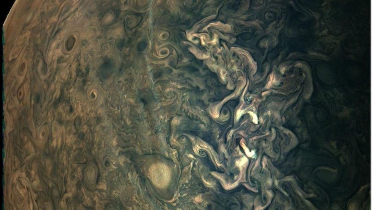 NASA releases stunning Juno image starring the hypnotic swirls of Jupiter