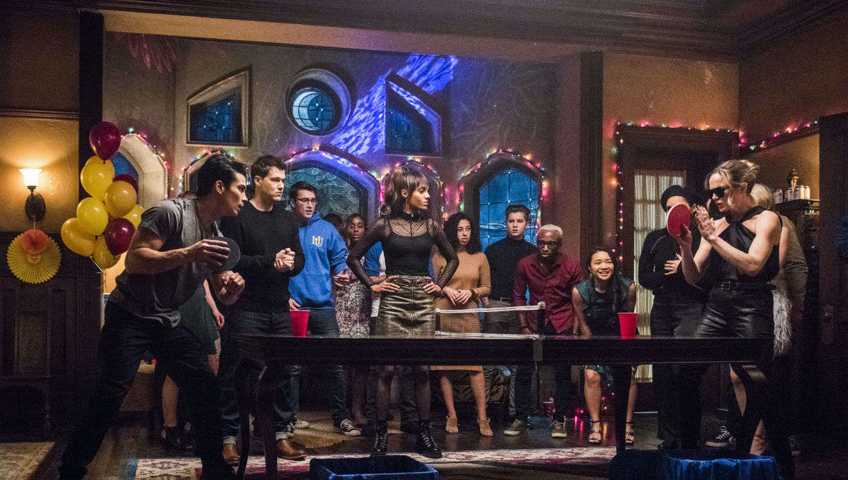 The team plays beer pong to acquire god-like powers in the latest Legends of Tomorrow