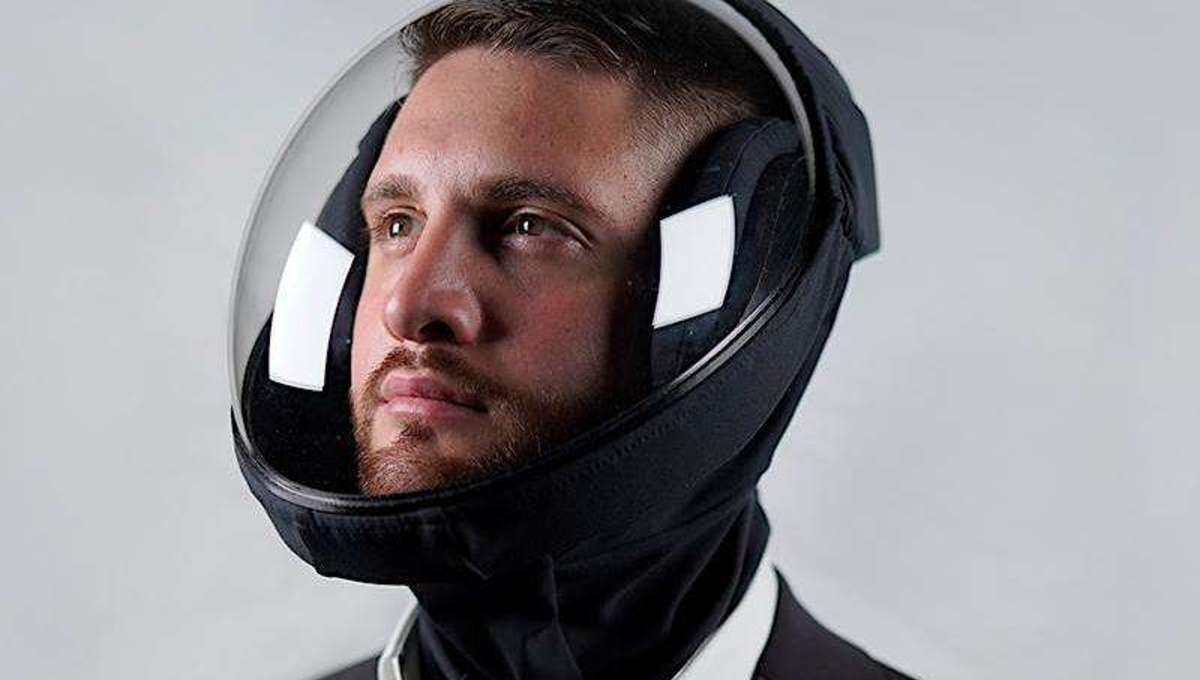Look like a DJ astronaut in this pandemic protective helmet from the future