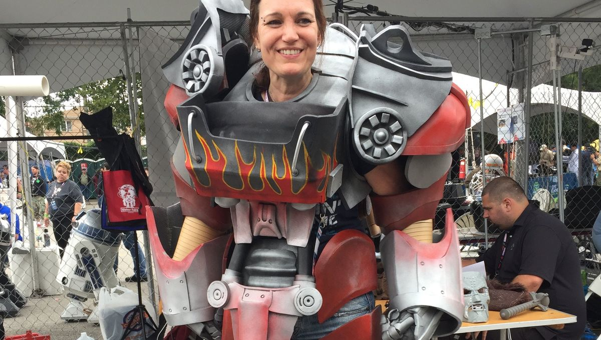 The coolest cosplay prop building at Maker Faire
