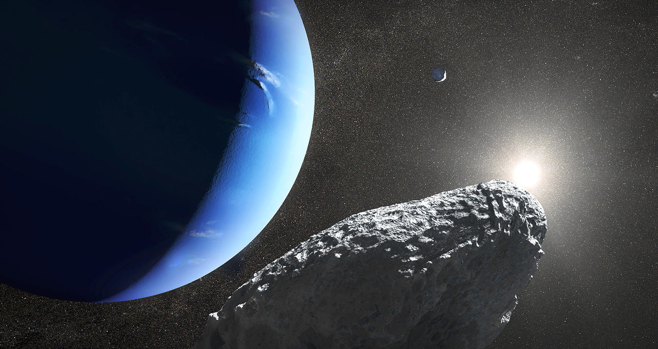 How to make a moon of Neptune: Whack another moon REALLY hard.