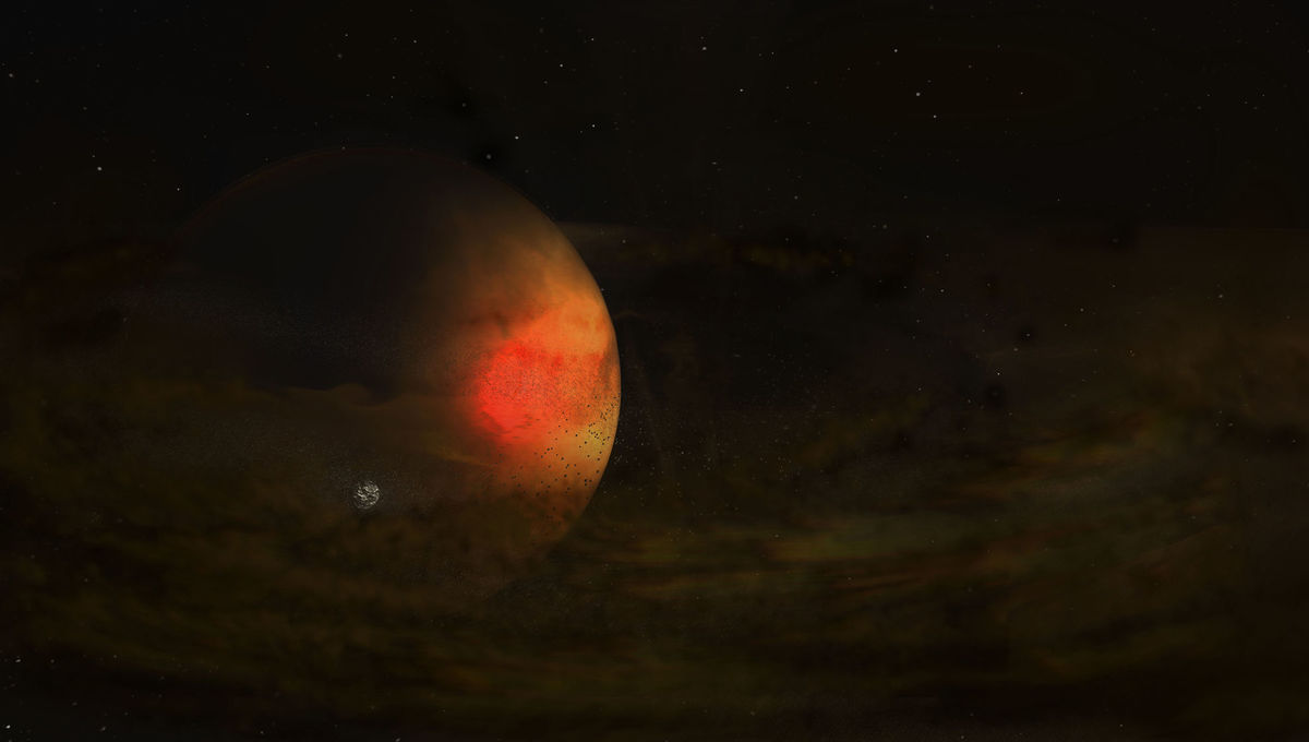 ALMA reveals a dusty ring around a young exoplanet that may be