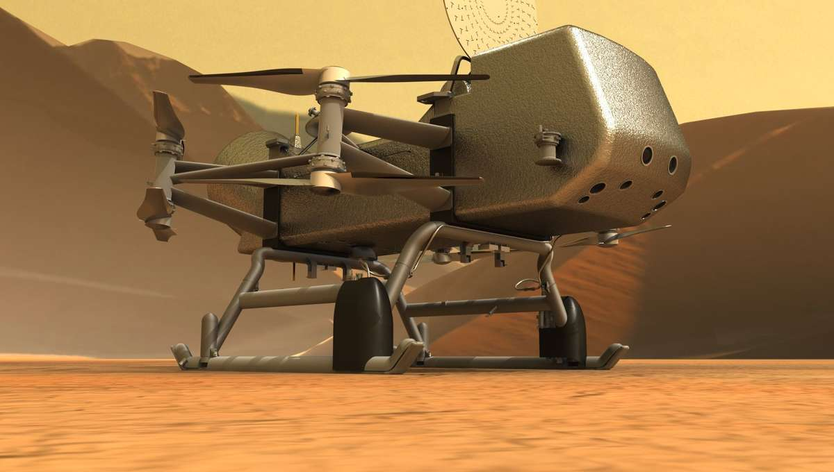 NASA will be sending a quadcopter called Dragonfly to Titan