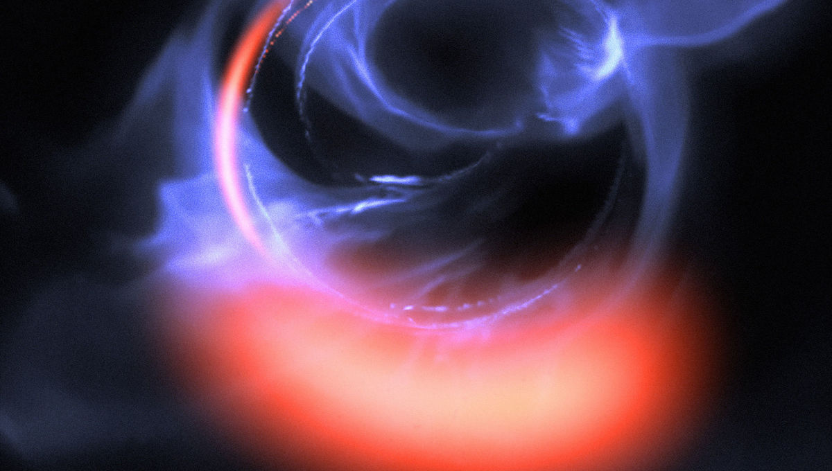 Astronomers see material orbiting a black hole *right* at the edge of forever