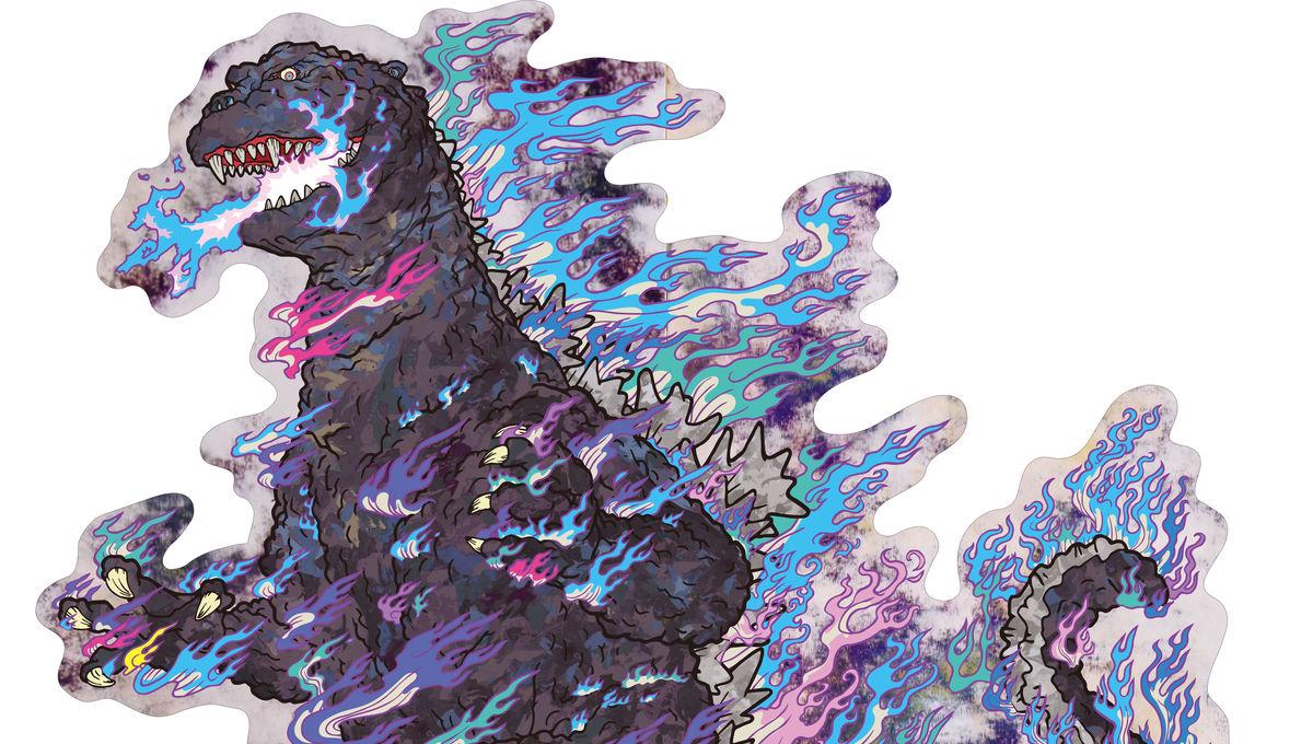 Godzilla gets trippy in new artwork from iconic pop artist Murakami
