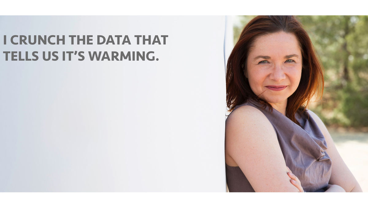... and she talks about it in church. Credit: Katharine Hayhoe