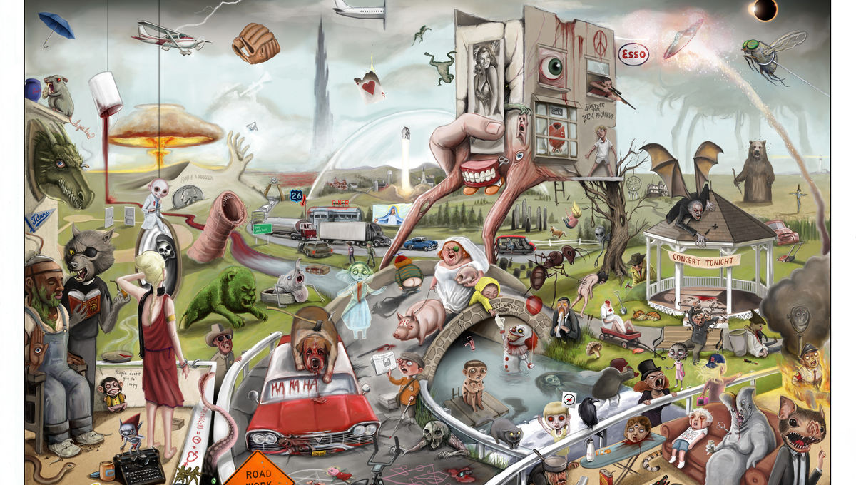 Artist creates poster with over 170 references to Stephen King's fiction