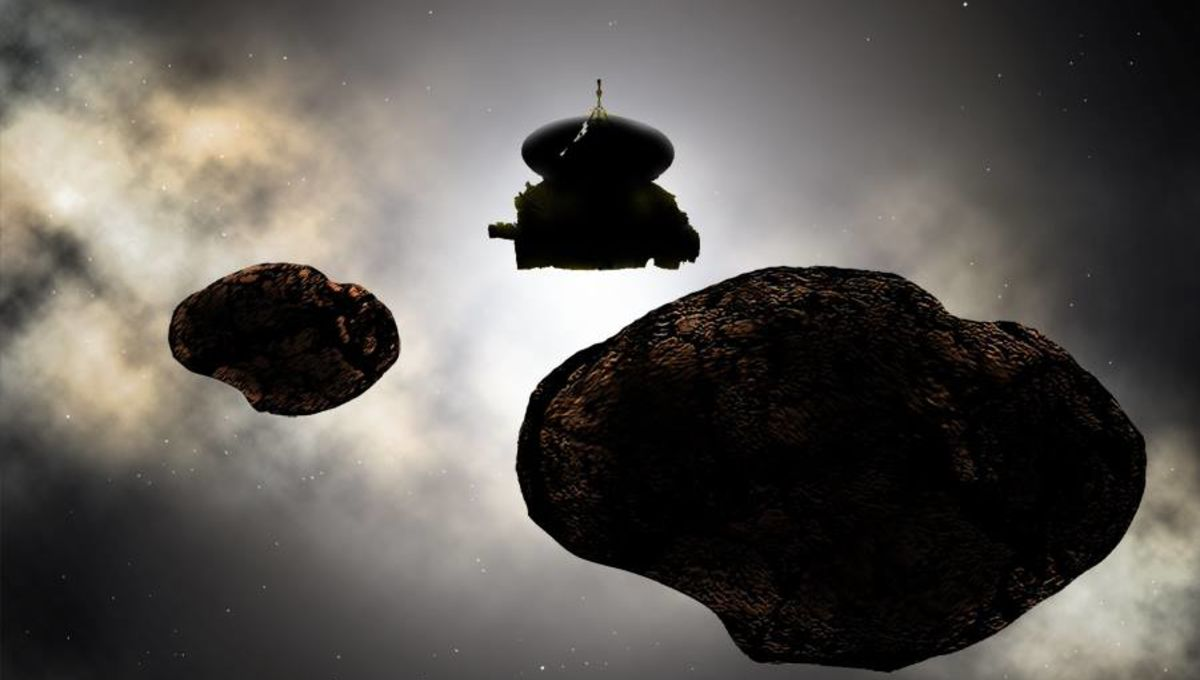 Artwork showing New Horizons flying past MU69... or whatever it will be called by then. Credit: NASA/Johns Hopkins University Applied Physics Laboratory/Southwest Research Institute