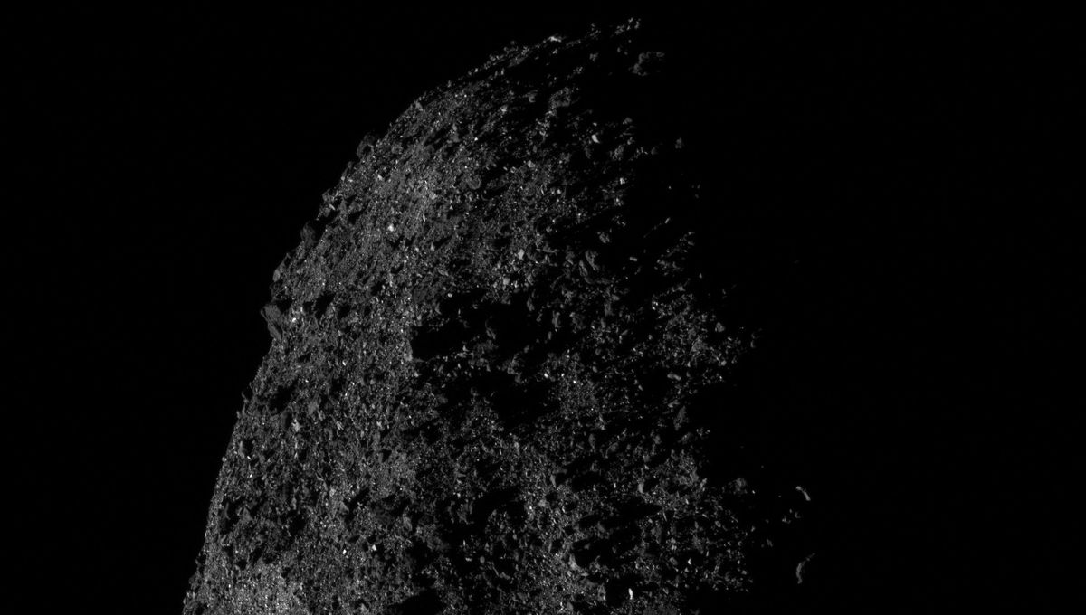 Bennu: The moody face of a rubble pile asteroid… that's spitting