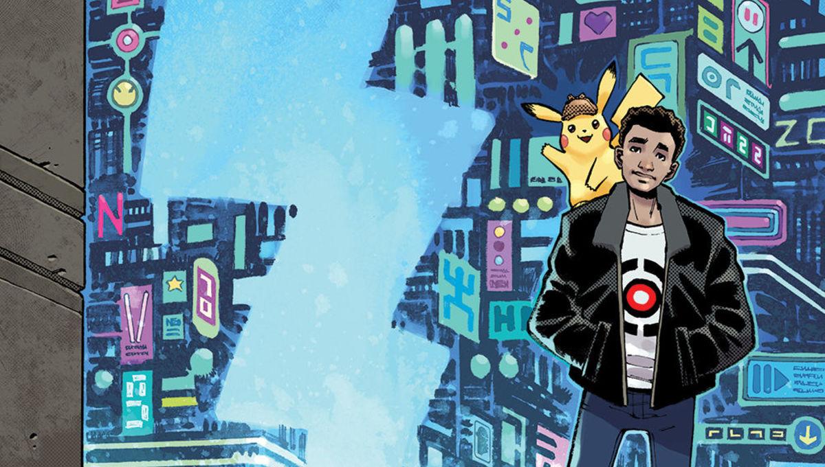 POKEMON Detective Pikachu Graphic Novel Cover Art