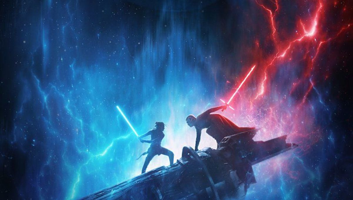 Rey and Kylo battle before the Emperor in a new poster for Star Wars: