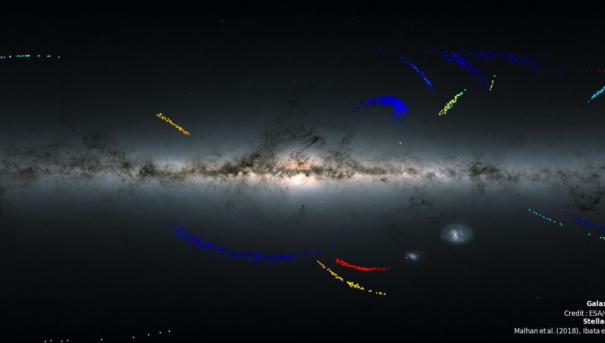 Gaia: The sky is littered with undigested galaxies
