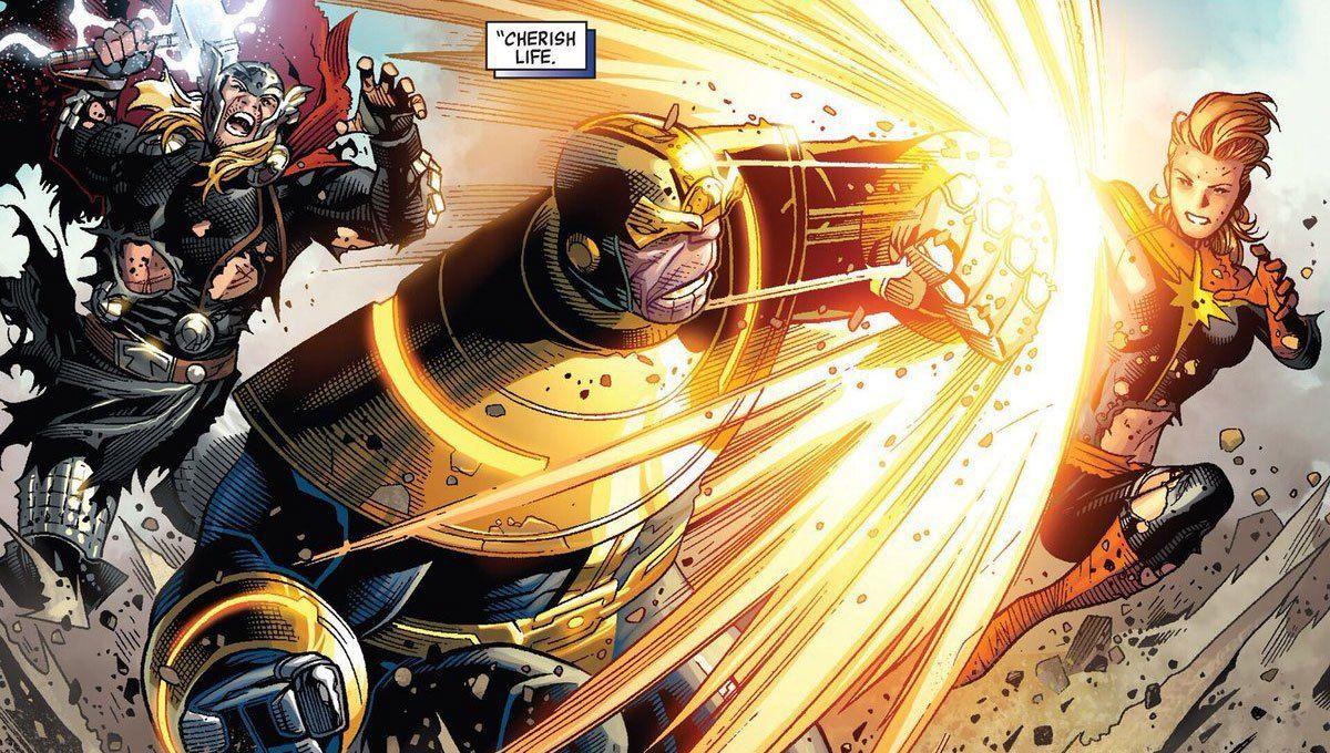 Captain Marvel vs. Thanos