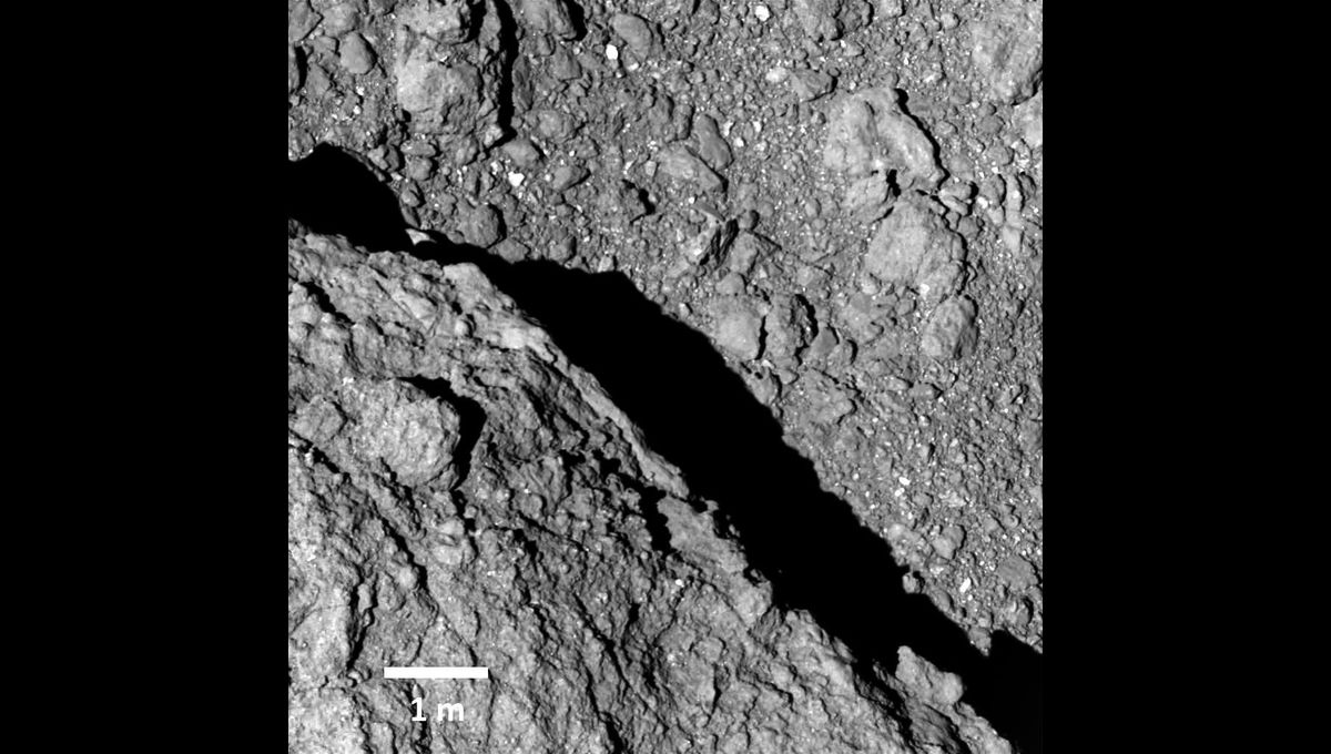The asteroid Ryugu is a weird, fragile thing