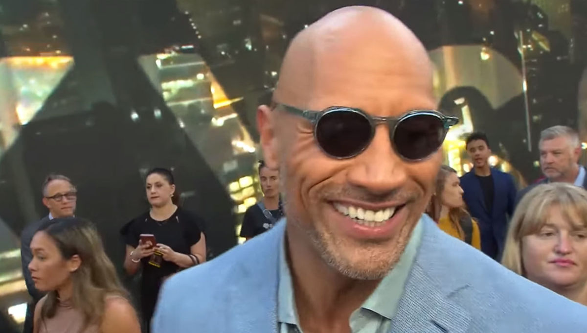 Dwayne Johnson at the Skyscraper premiere