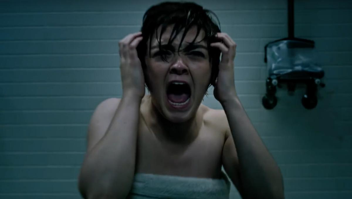 Maisie Williams screaming in The New Mutants