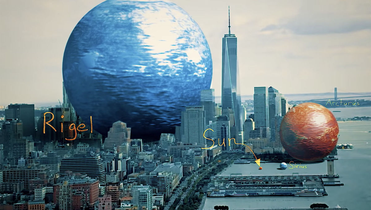 A sense of scale: VFX artist shows you how big the biggest stars are