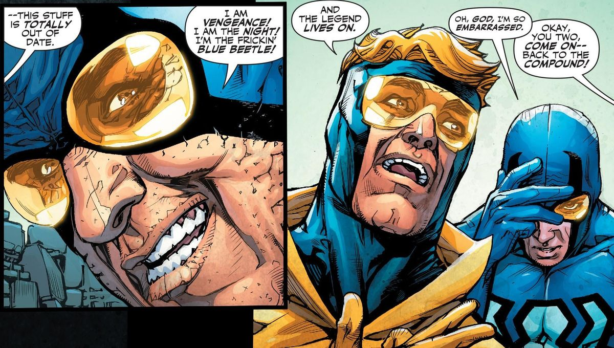 Booster Gold & Blue Beetle Duo in DC Comics