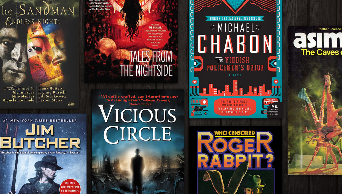 12 sci-fi/fantasy books that channel the blood of hardboiled noir into their black, black hearts