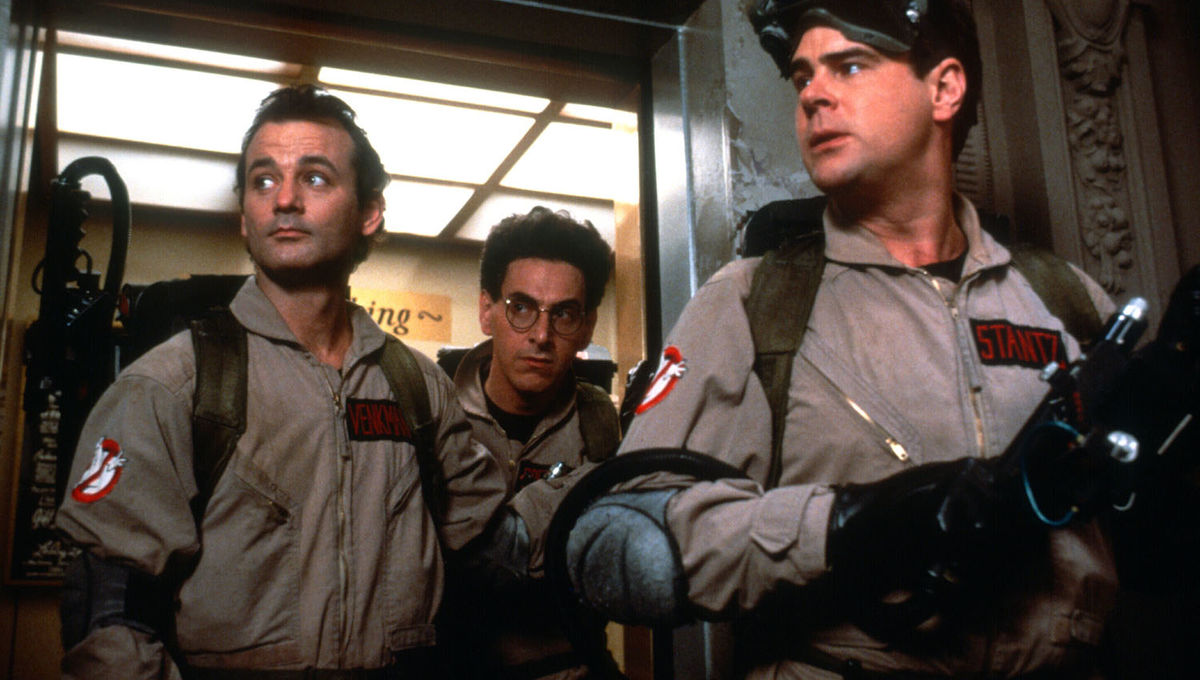 """a story about the strange doctor and ghostbusters Reitman, who had shot footage of the leads referring to themselves as the ghostbusters and of massive crowds shouting """"ghostbusters ghostbusters"""" was in deep trouble luckily, frank price — the head of columbia pictures and the man who originally green-lit the movie — was moving to universal studios to become the new studio head there, and allowed reitman to keep the name for the film."""