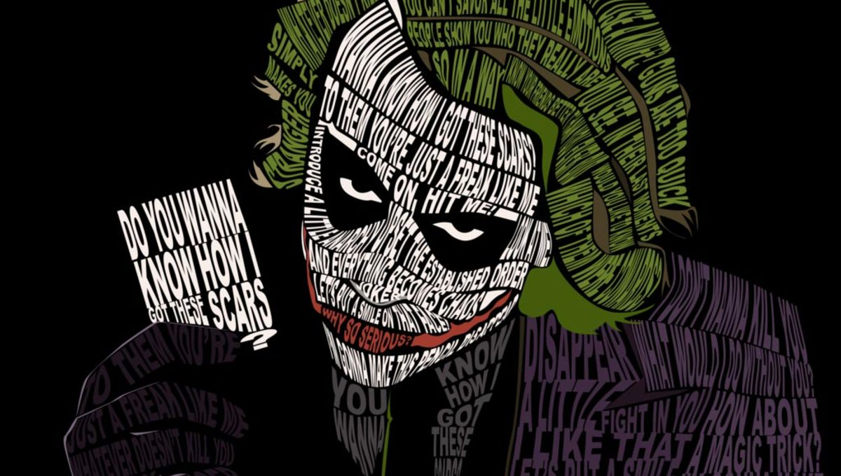 Image Of The Day The Jokers Portrait Made From Creepiest Quotes